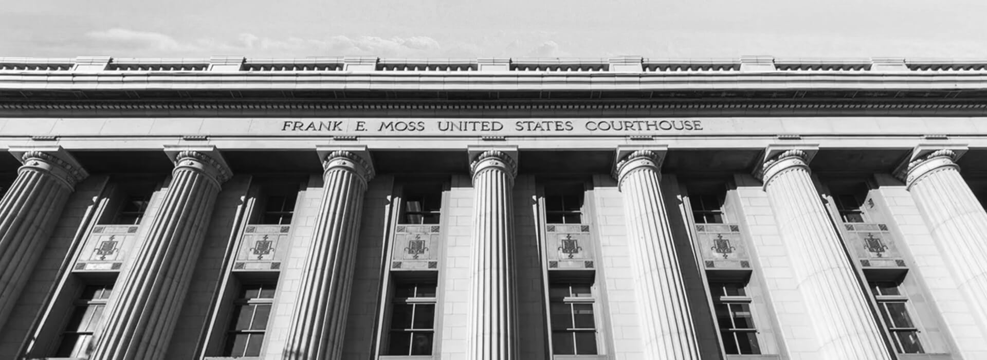 Black and White Frank E. Moss United States Courthouse
